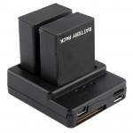 Chargeur Batterie GoPro de 3+ / 3 AHDBT-301, AHDBT-302 Noir - wewoo.fr
