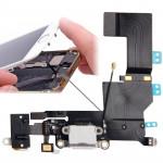 Composant iPhone 5S Version originale Tail Connecteur Chargeur Flex Câble + prise audio casque Ruban Blanc - wewoo.fr