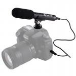 Microphone appareil photo Interview vidéo professionnel à condensateur Shotgun avec câble audio 3,5 mm reflex numérique et un...