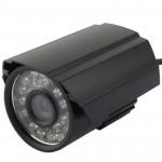 Caméra de sécurité CCD CMOS 420TVL 6mm Objectif Matériau Couleur infrarouge avec 24 LED, IR Distance: 20 m - wewoo.fr