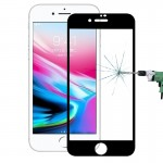 Verre Trempé iPhone 8 Plus 0.26mm 9H Surface dureté antidéflagrants 3D fibre de carbone plein écran souple en Arêtes Film l'é...