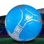 Ballon 21.5cm cuir PU couture portable match de football bleu - wewoo.fr