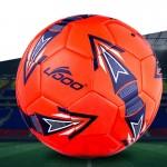 Ballon 19cm cuir PU couture portable match de football rouge - wewoo.fr