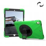 Coque rigide iPad Pro 10.5 pouces rotation de 360 ??degrés PC + Silicone étui protection avec support et sangle main vert cla...