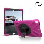 Coque rigide iPad Pro 10.5 pouces rotation 360 degrés PC + Silicone Housse de protection avec support et sangle main Magenta ...