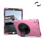 Coque rigide iPad Pro 10.5 pouces rotation de 360 ??degrés PC + Silicone Housse protection avec support et sangle main rose ...