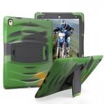 Coque rigide iPad Pro 10.5 pouces Wave Texture Series PC + Silicone étui de protection avec support Army Green - wewoo.fr