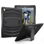 Coque rigide iPad Pro 10.5 pouces Wave Texture Series PC + Silicone Housse de protection avec support Noir - wewoo.fr