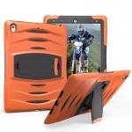 Coque rigide iPad Pro 10.5 pouces Wave Texture série PC + Silicone Housse de protection avec support Orange - wewoo.fr