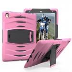 Coque rigide iPad Pro 10.5 pouces Wave Texture série PC + Silicone Housse de protection avec support rose - wewoo.fr