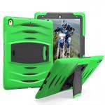 Coque rigide iPad Pro 10.5 pouces Wave Texture série PC + Silicone étui de protection avec support vert - wewoo.fr