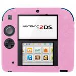 Accessoires 2DS Pure Color Ultra mince étui en silicone Nintendo Rose - wewoo.fr