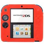Accessoires 2DS Pure Color Ultra mince étui en silicone Nintendo Rouge - wewoo.fr