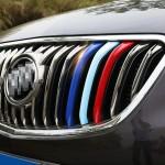 Décoration de Calandre 3 PCS voiture en plastique Bande avant Grill Grille Inserts Cover Strip Car Styling Accessoires Envisi...