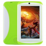 Tablette PC pour enfants, 7.0 pouces, 512 Mo + 4 Go, Android 4.4 Allwinner A33 Quad Core, WiFi / Bluetooth, avec étui en sili...