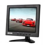 ESCAM T08 8 pouces TFT LCD 1024x768 Moniteur avec VGA et HDMI et AV & BNC et USB pour la sécurité CCTV PC - wewoo.fr