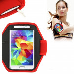 Brassard Galaxy S5 G900 de sport Samsung / S IV i9500 i9300 rouge - wewoo.fr