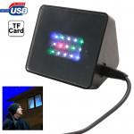 Alarme sonore Accueil Sécurité TV Deters Voleur Cambrioleur dispositif de prévention intégré LED, support carte TF noir - we...