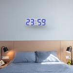 Réveil mural multifonctions 3D LED mural multifonctions avec fonction Snooze, affichage 12/24 heures pour la maison, cuisine,...