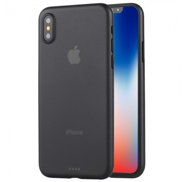 Coque souple iPhone X Ultra-mince givré PP protection arrière Housse de Noir