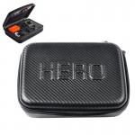 Mallette de rangement GoPro Fibre carbone antichoc du boîtier portable étanche 4 / 3+ 3/2/1 ST-130 Noir - wewoo.fr