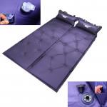 Tapis de camping couchage gonflable automatique, Pad étanche à l'humidité avec oreiller Violet - wewoo.fr