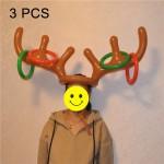 3 PCS Gonflable Renne Antler Mignon Cerf Tête Enfant Lancer Anneau Jeux Jouet - wewoo.fr