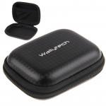 Mallette de rangement GoPro Fibre carbone boîtier portable étanche HERO4 / 3 + 3/2/1, Taille: 9cm x 7cm Noir - wewoo.fr