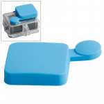 Protection Objectif GoPro TMC silicone Cap Hero 4 / 3+ Bleu - wewoo.fr