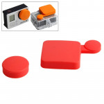 Protection Objectif GoPro TMC silicone Cover Set Hero 4 / 3+ Rouge - wewoo.fr