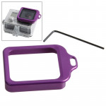 Adaptateur d'objectif GoPro Remplacement de l'objectif Kit aluminium Longe bague montage et tournevis 4 / 3+ Violet - wewoo.fr