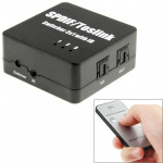 Récepteur de fibre Optique SPDIF / Toslink Adaptateur Switcher audio numérique 3x1 avec télécommande IR - wewoo.fr