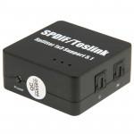 Récepteur de fibre Optique SPDIF / Toslink Adaptateur Splitter audio numérique Amplificateur 1x3 5.1 Prise en charge - wewoo.fr