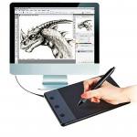 Tablette graphique H420 Dispositif d'entrée d'ordinateur 4,17 x 2,34 pouces 4000LPI Planche à dessin avec stylo - wewoo.fr