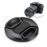 Protège-objectif appareil photo Centre 62mm Camera Lens Pinch Cap Noir - wewoo.fr