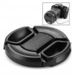 Protège-objectif appareil photo Centre de 52 mm Objectif caméra Pinch Cap Noir - wewoo.fr