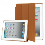 Smart Covers iPad 2 & 3 4 4-pliage Slim Cover étui en cuir avec support Sleep / Fonction de réveil nouvel Brown - wewoo.fr