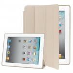 Smart Covers iPad 2 & 3 4 4-pliage Slim Cover étui en cuir avec support Sleep / Fonction de réveil nouvel Blanc - wewoo.fr