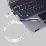 Serrure de sécurité PC portable Verrou avec code mot passe Longueur: 1.2m - wewoo.fr